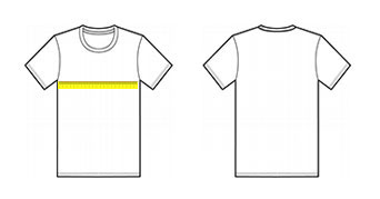 Straight-cut shirt diagram
